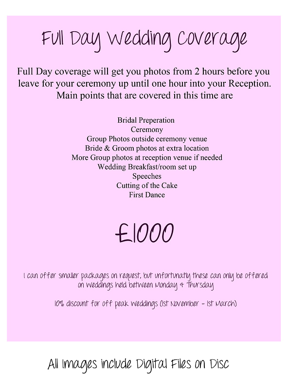 WEDDING PACKAGES2015